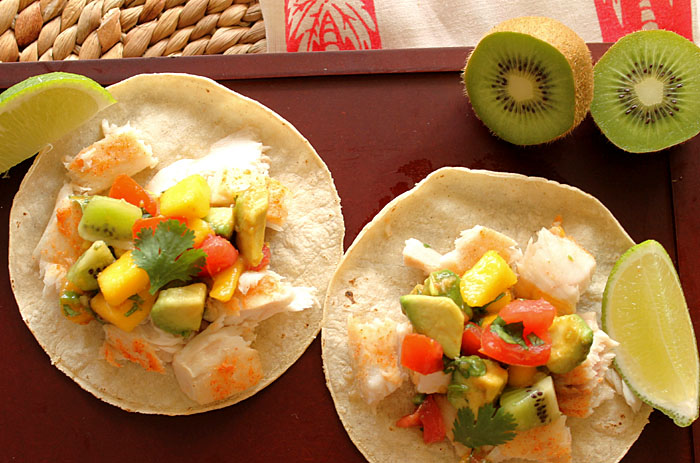 Fish tacos with tropical fruit salsa robust recipes for Fruit salsa for fish