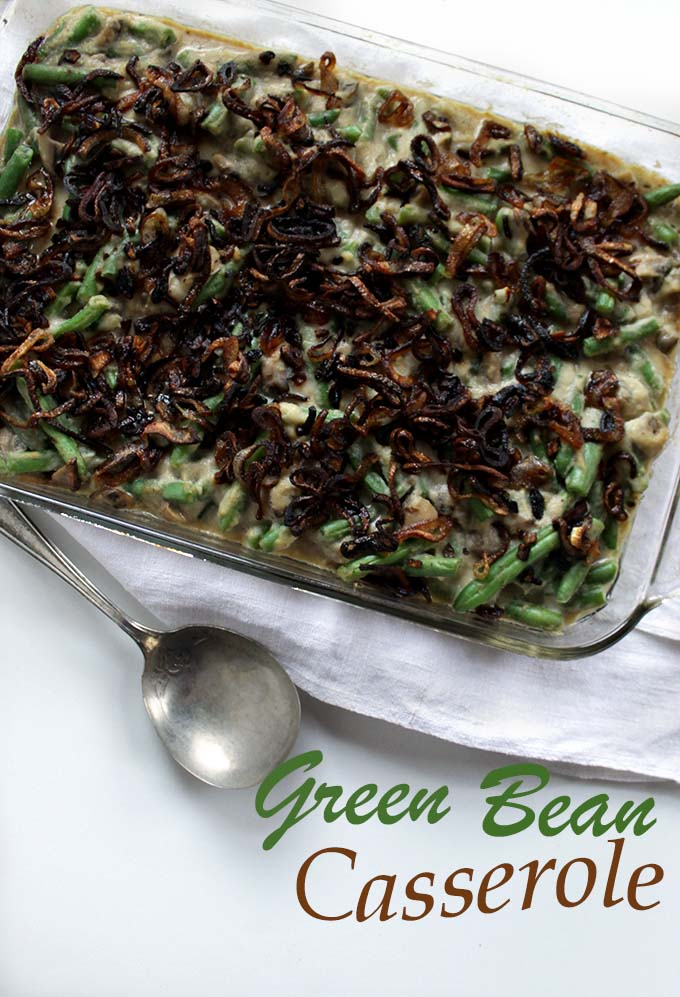 Green Bean Casserole with Creamy Cauliflower Sauce and Crispy Shallots ...