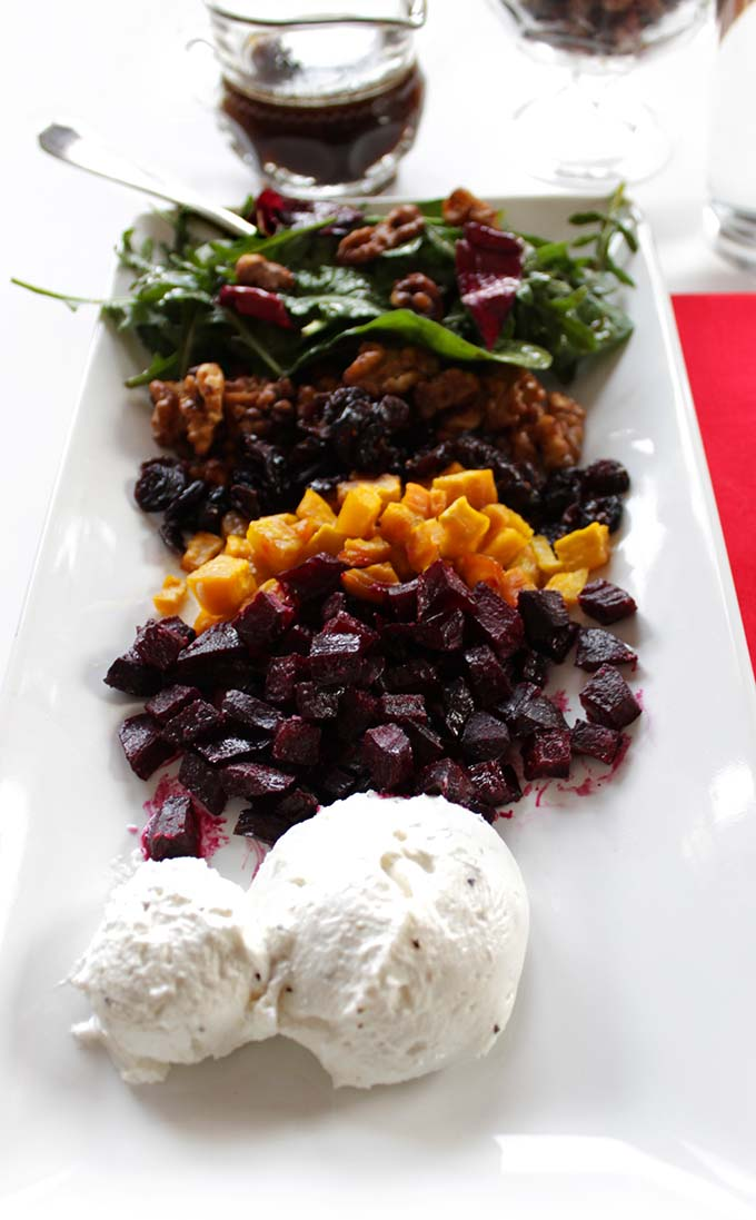 Deconstructed Honey Roasted Beet Salad with Whipped Goat ...