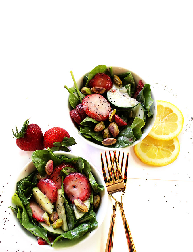 Strawberry Cucumber Salad with Creamy Lemon Poppy Seed ...