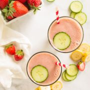 Strawberry Banana Cucumber Smoothie
