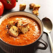 Healing Roasted Tomato and Red Pepper Soup